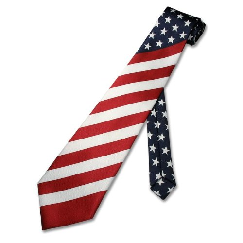 Flag of USA Mens Tie Clip Tack Bar