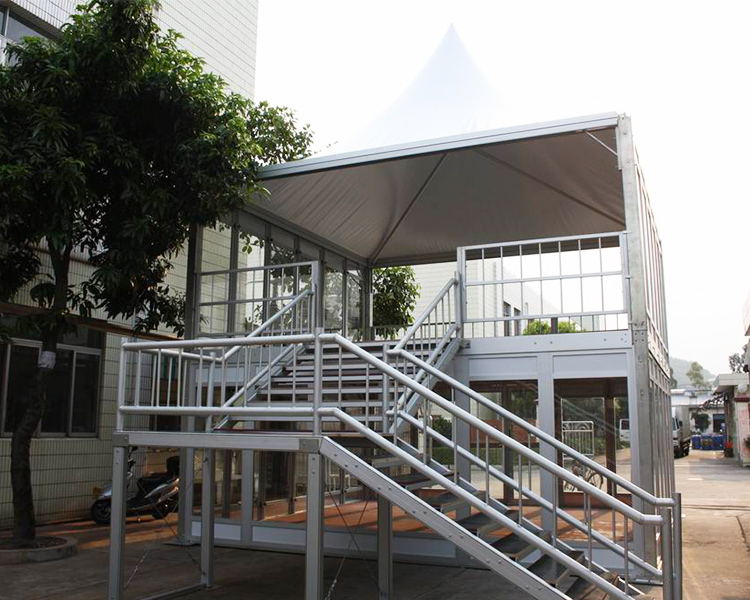 COSCO Two Story Camping Tent, Outdoor Temporary Office Tent, Double Deck Tent With Glass Wall