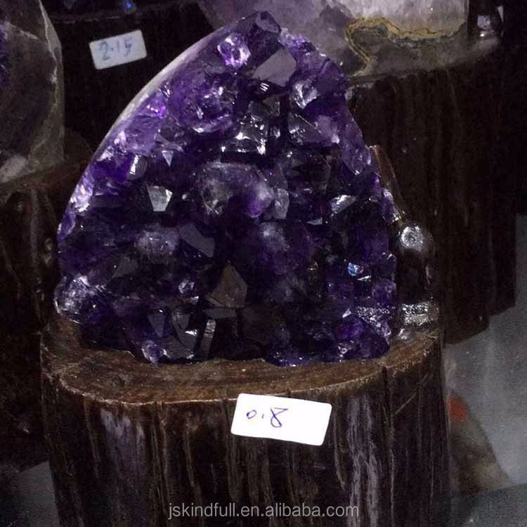Wholesale natural high quality amethyst quartz crystal cluster geode home decoration