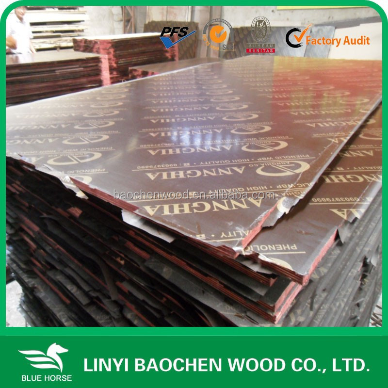 combi core and wbp glue /shipped to Vietnam market wooden formwork for constrctiion /15mm/18mm/21mm/25mm brown film