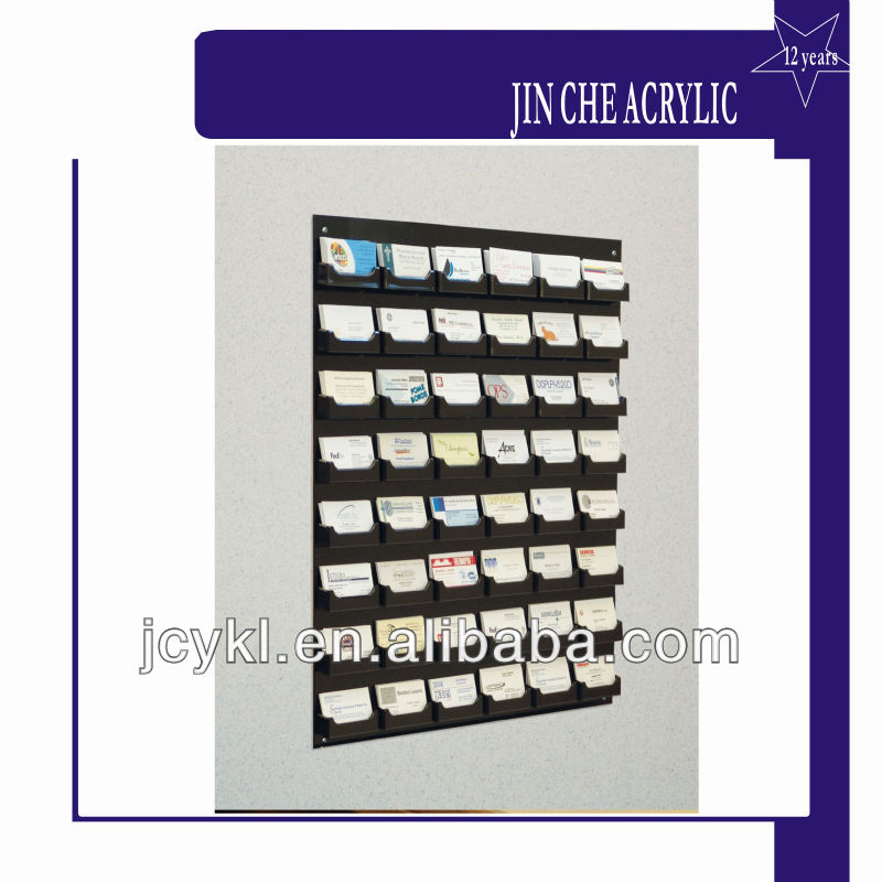 48-pocket Wall Mount Business Card Holder Rack - Buy Black Acrylic ...
