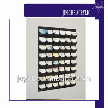 48 Pocket Wall Mount Business Card Holder Rack Buy Black Acrylic