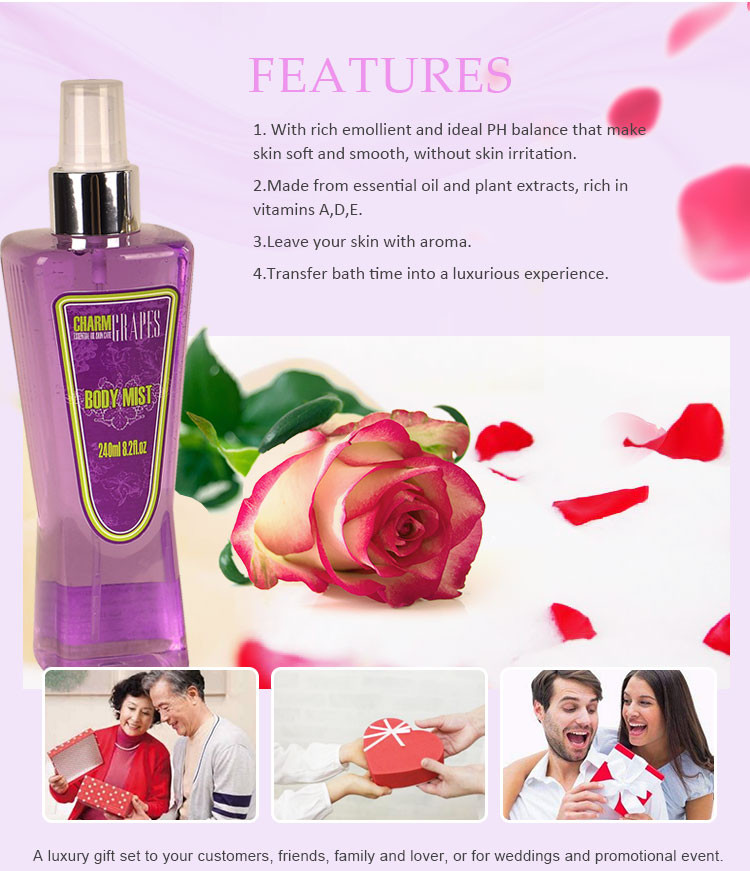 OEM private label Bulk Hight Kwaliteit vrouw cherry blossom Parfum plastic fles body mist