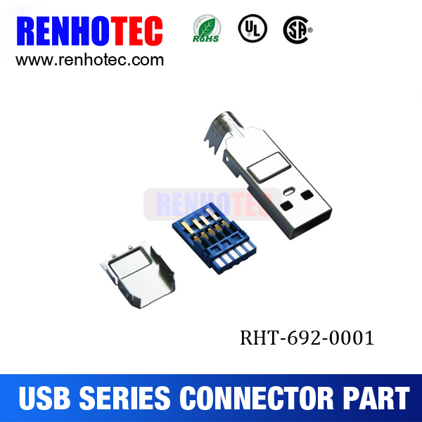usb type a connector, usb 3.0 connector, USB 3.0 male solder 3 sets connector A type USB part
