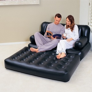 Bestway luxury inflatable sofa bed 5 in 1 home multi-function recliner chair bed