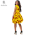 2019 Hot Sale African Print Women Dashiki Deep V-neck Sling Dress Wholesale Factory