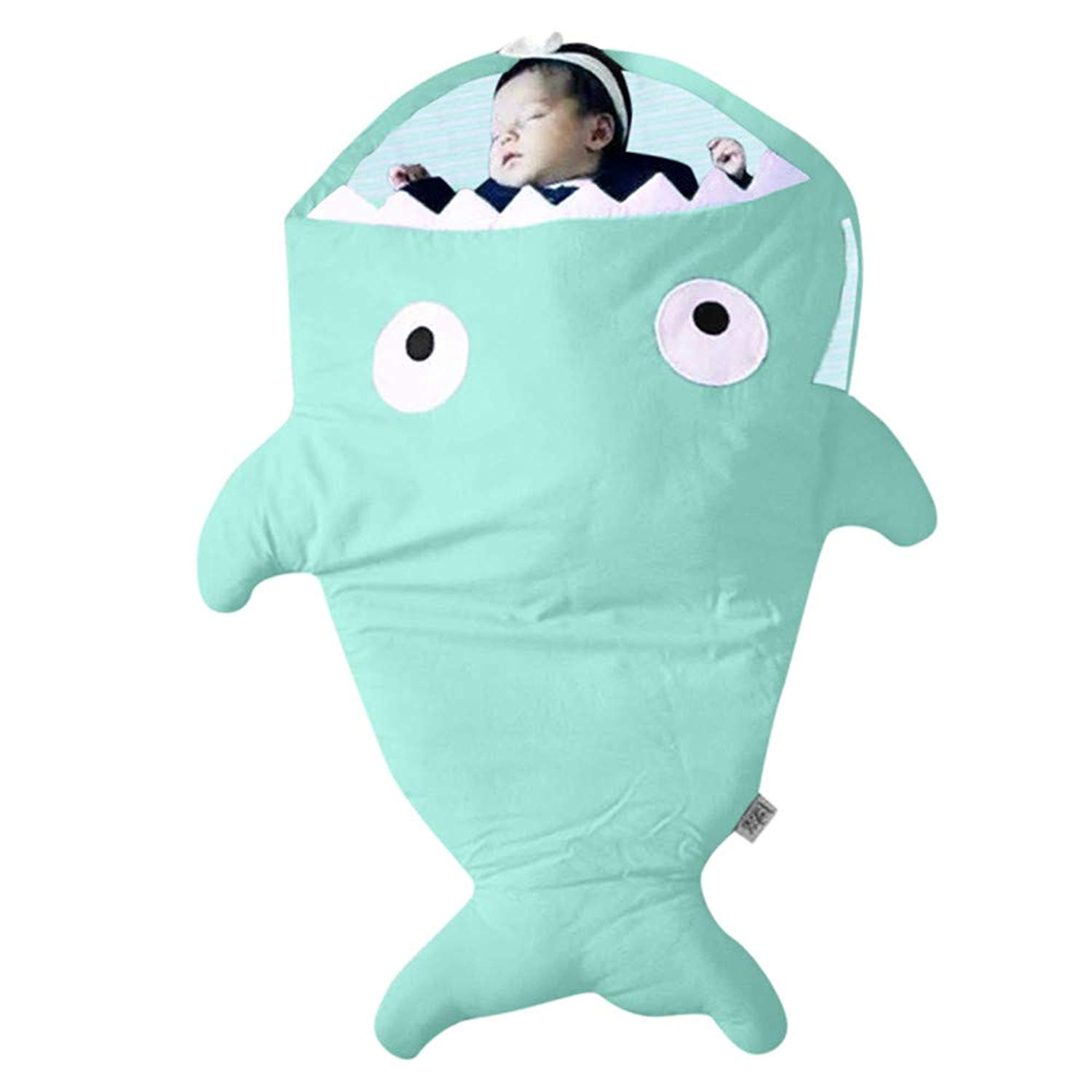 Sothread Newborn Baby Boys Girls Shark Receiving Blanket Sleeping Bag Swaddle Sleeping Swaddle Muslin Wrap