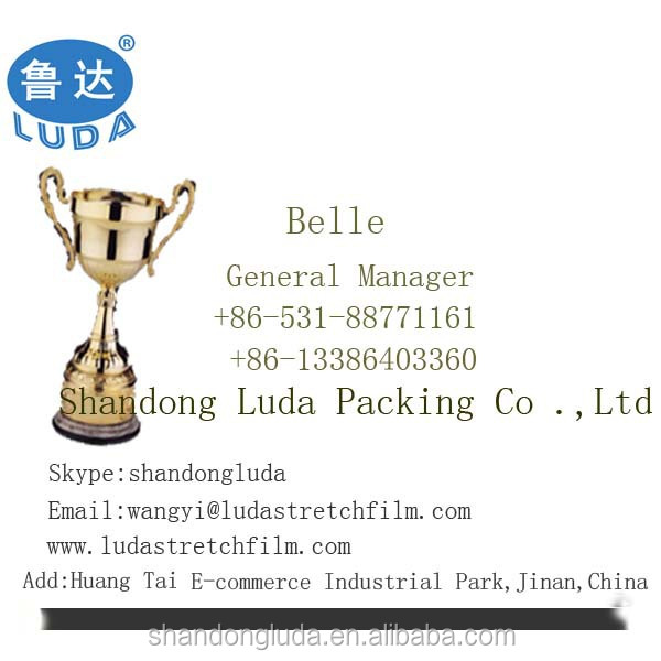 Luda supplier white mechanical LLDPE plastic stretch wrapping film