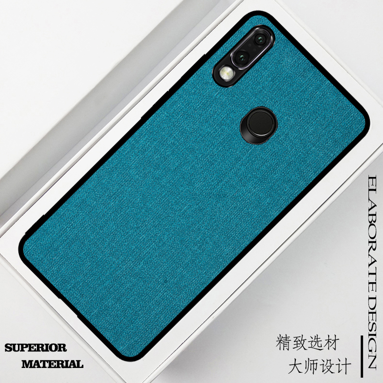 Fashion Cloth Pattern Retro Fabric Leather Phone Cases for Moto G7 Power