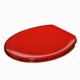 WC Bathroom Soft Close Duroplast Red colour Toilet Seat