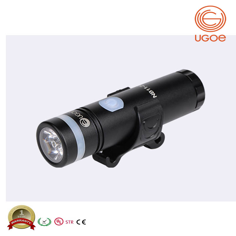 UGOE bicycle lamp with safe side light Micro USB rechargeable led bike light