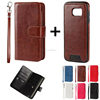 separable flip PU leather phone case cover with card slot for Samsung Galaxy Note C S A J E ON edge mini plus 9 8 7 6 5 4 3 2
