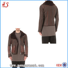 Best Selling In America Fashion European Style Winter Jackets Man Shearling Jacket With Biker Collar