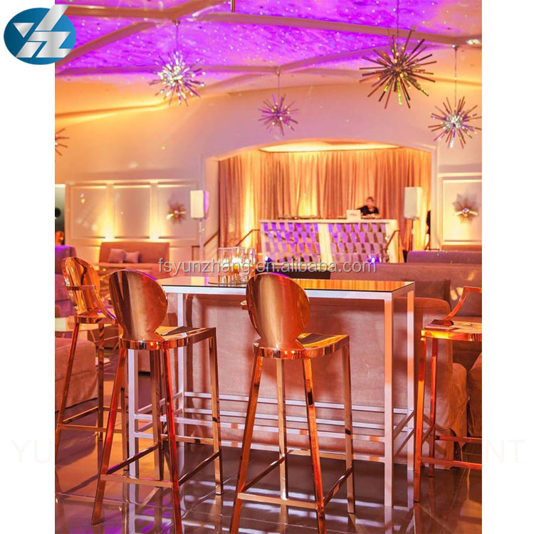 Good quality round arm stainless steel bar stool chair