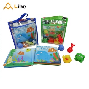 High Quality PEVA Eco-Friendly and Safe Baby Bath Book Cheap Educational Bath Toy Set