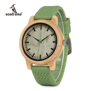 BOBO BIRD Timepieces Bamboo Wooden Watches for Men&Women With Leather Strap relogio masculino B06