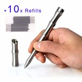 Dito Bamboo Shape Multi Purpose Stainless Steel Tactical Pen Survival Outdoor Self Defense Tool Glass Breaker