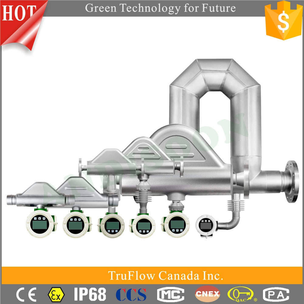 Molasses fluid viscosity mass flow meter, density flow meter