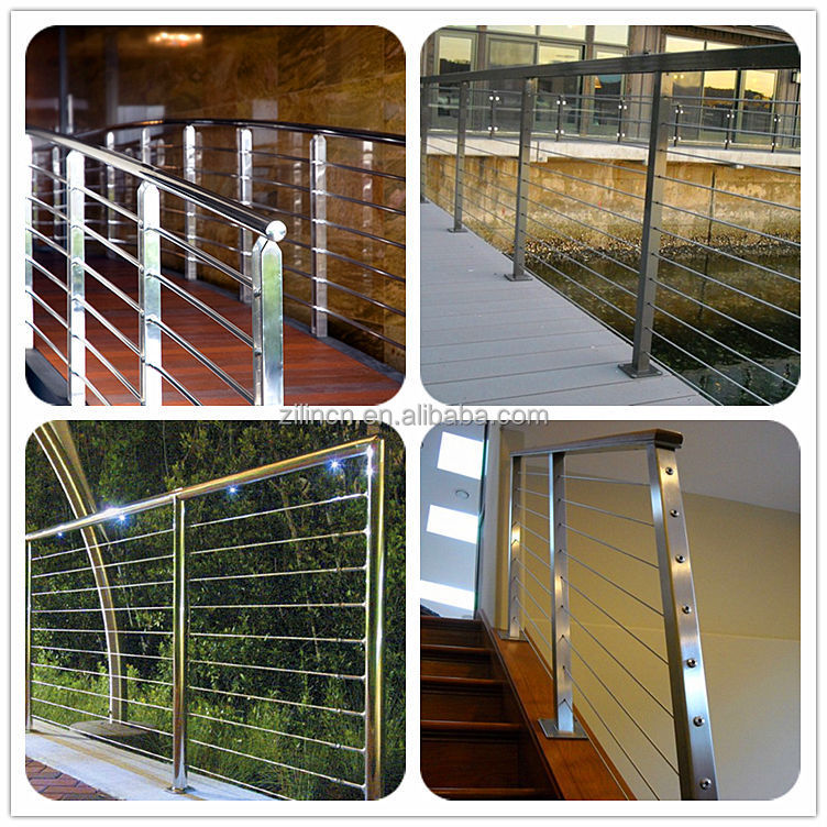 Wire Cable Stainless Steel Stair Railing Indoor Stair