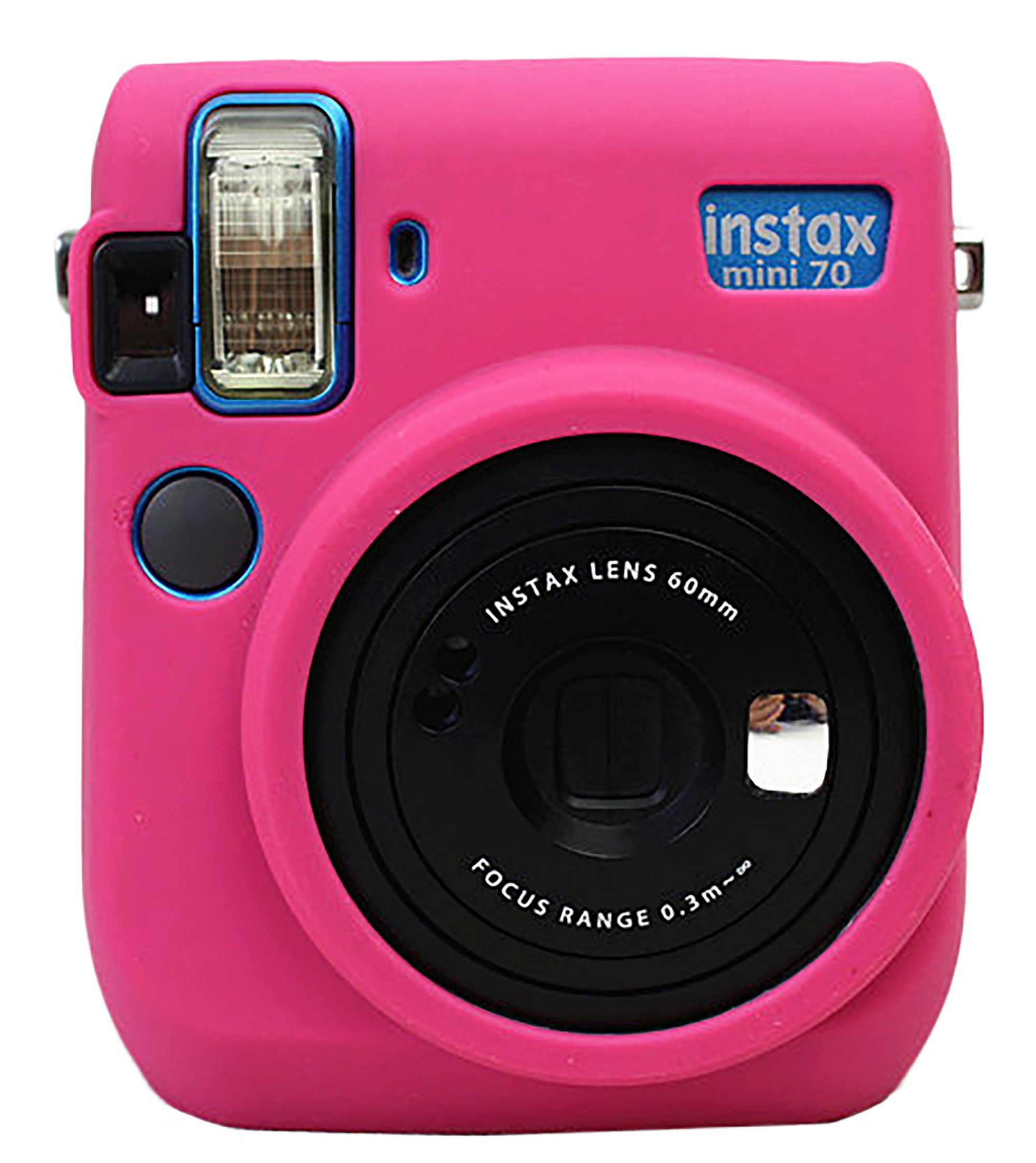 Protective Silicone Gel Rubber Soft Camera Case Cover Bag For Fujifilm Fuji Instax Mini 70 Camera Magenta