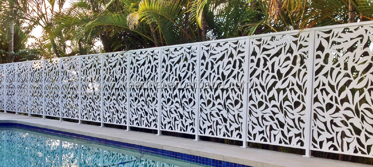Laser Cutting Aluminium Decorative Outdoor Perforated