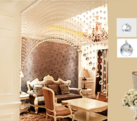 Pujiang crystal glass beads glass ball curtain for door decoration