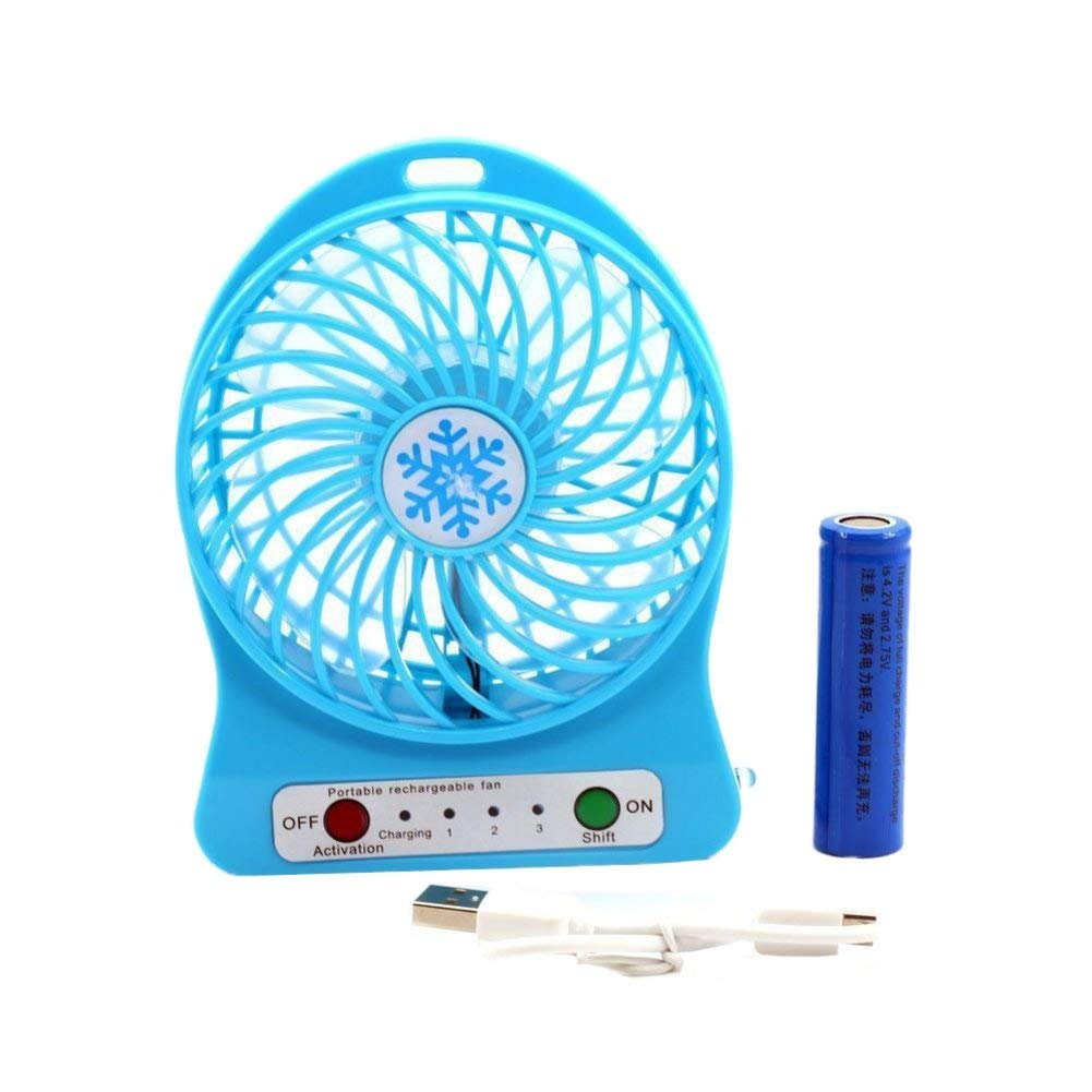 USB Fan,Bokze Personal Desk Table Cooling Mini Fan Phone Charge,Outdoor,Office,Bedroom Battery Operated Portable Fans(with battery)