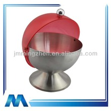 Round shape with acrylic lid stainless steel sugar container