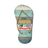 New Product Vintage Beach Flip Flop Wood Hanging Decoration Custom Wood Plaque Art