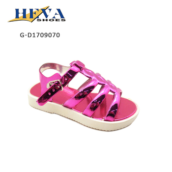 24f65f96de27a8 Super Cute Strappy Open Toe Toddler Girls Beach Metallic Gladiator Sandal  with Flat Thick Contrasting White