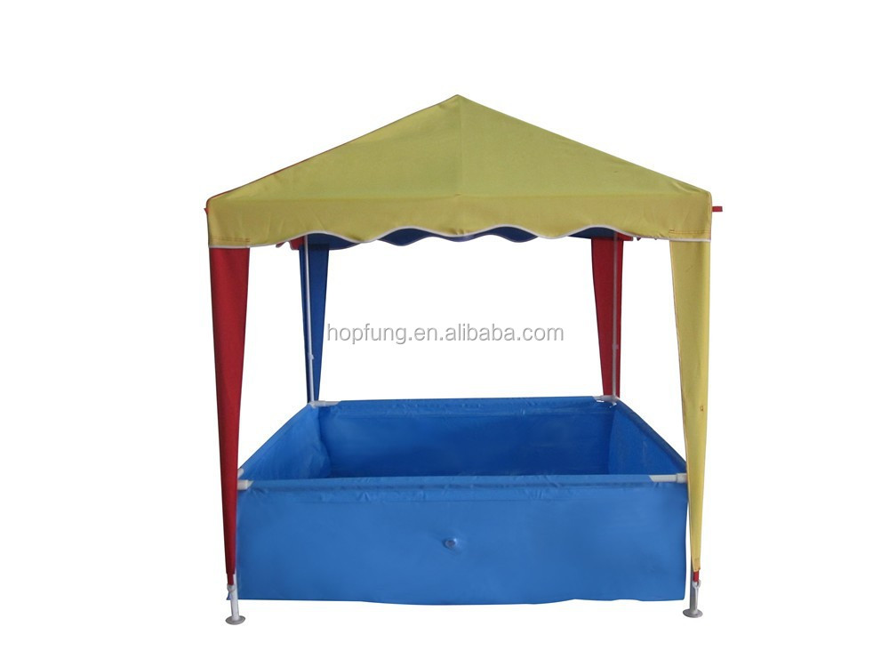 Children square colorful polyester kids gazebo with swimming pool