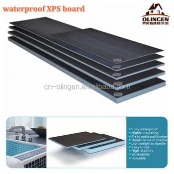 Wetroom Floor Insulation Boards Flexible Tile Backer Board Fiber