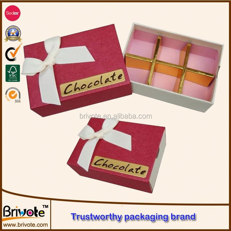 gift paper chocolate boxes/pad cushion chocolate box/delicate wooden chocolate packaging box