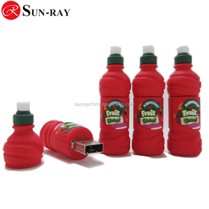 Your best chose promotion gift customized PVC bottle shape usb 2.0 usb flash pen with free sample