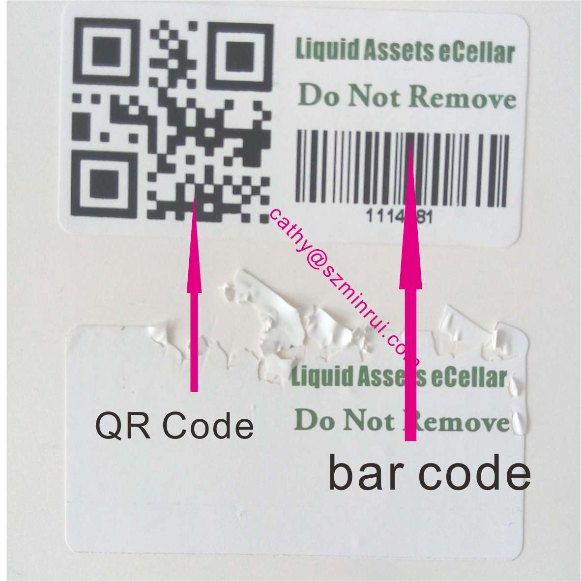 graphic relating to Printable Tamper Proof Labels called Customized Design and style With Your Brand Stability Tamper Evidence Dwelling Of Printable Barcode Sticker,Destrutcible Tamper Obvious Asset Label - Order Residence Of