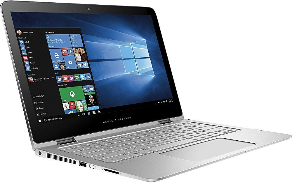 """HP Spectre x360 13-4193nr 2-in-1 with 1TB SSD Upgrade 8GB Ram 6th Gen Intel Core i7-6500U 13.3"""" FHD Touch-Screen Laptop HDMI Bluetooth Windows 10 Factory Refurbished"""