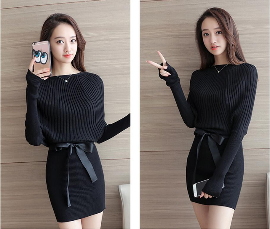 2017 Spring Women Boat Neck Sweater Girls Fancy Long