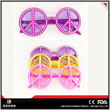 2014 most popular Peace Party plastic Sunglasses