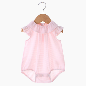 PHB20900 pink stripes summer baby girls romper infant jumpsuit