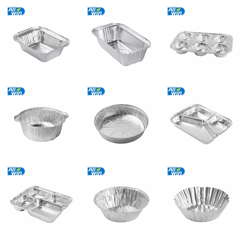 full size aluminium foil shallow steam table pan