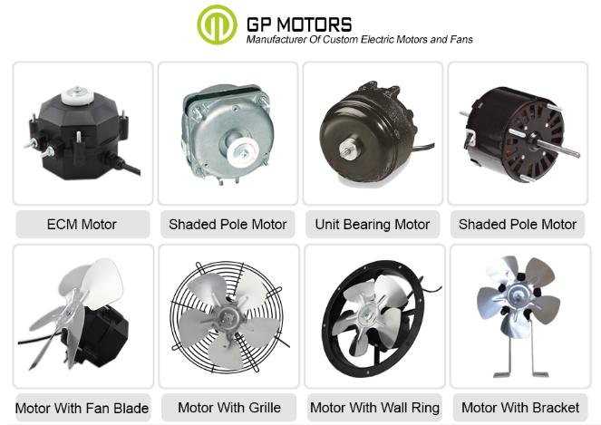 Ecm7108 7w ec dc condenser evaporator fan motor for for Walk in cooler motor