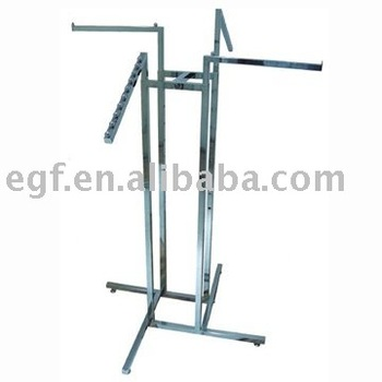4 Way Clothes Rack / Metal Clothes Stand / Adjustable Garment Rack