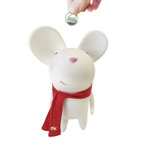 Semk design plastic pvc material animal shaped piggy banks for promotional