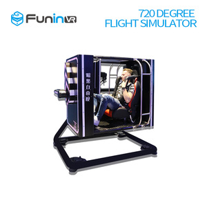 Interactive Play System FuninVR Full Motion 720 Degrees Flight Simulator for sale