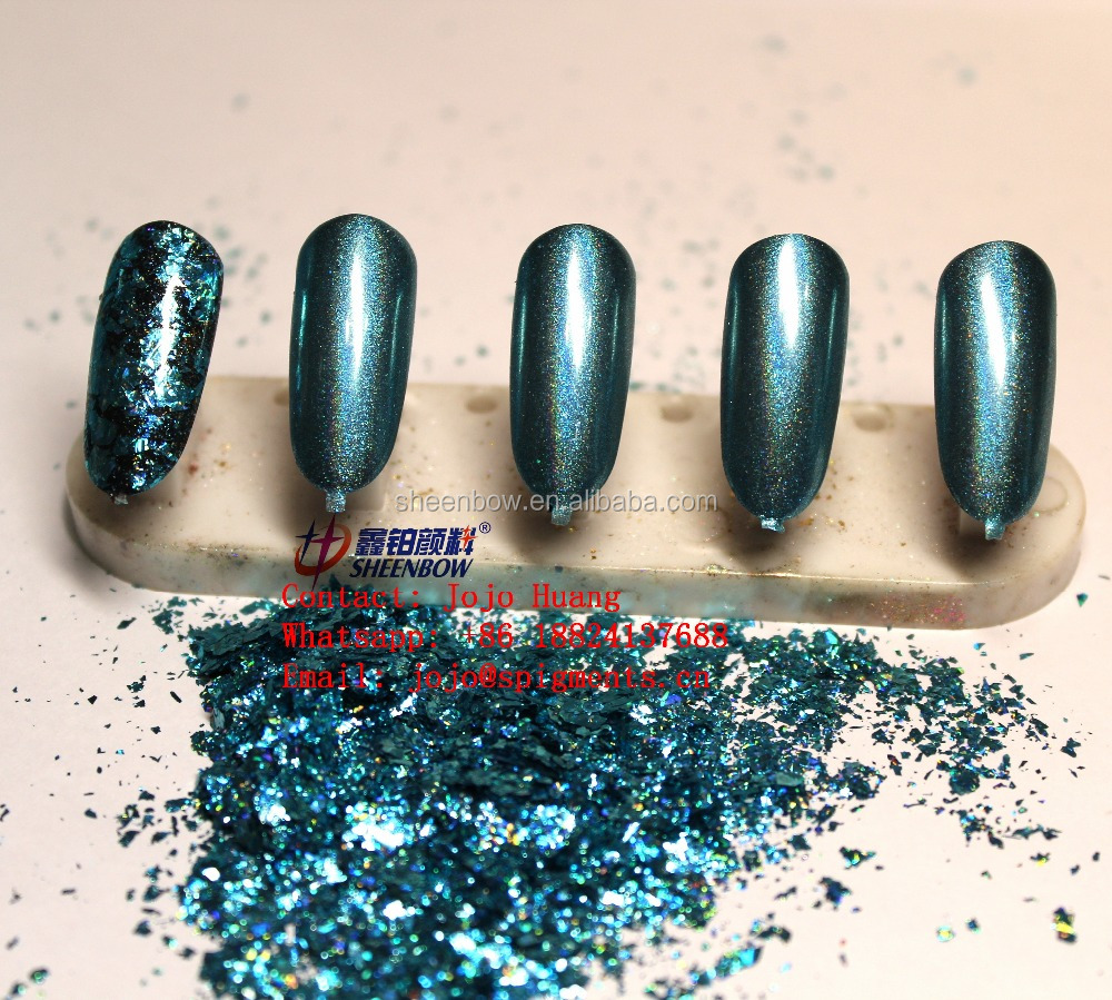 Galaxy Holo Flakes Blue Holographic Unicron Chrome Powder For Nails ...