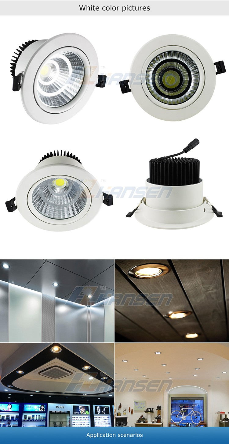 Factory Price Newest High Lumen 30w Led Cob Down Light With ...