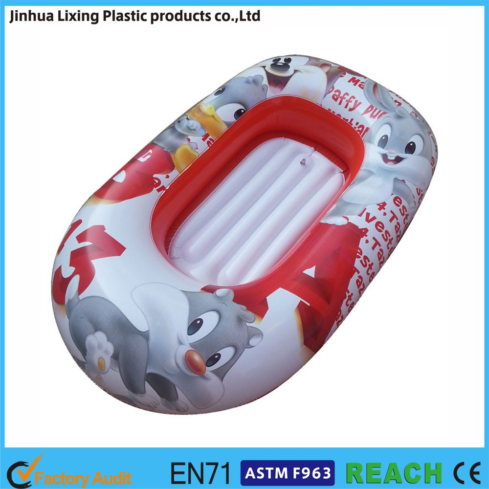 colorful mini inflatable boat kids inflatable floating rowing boat