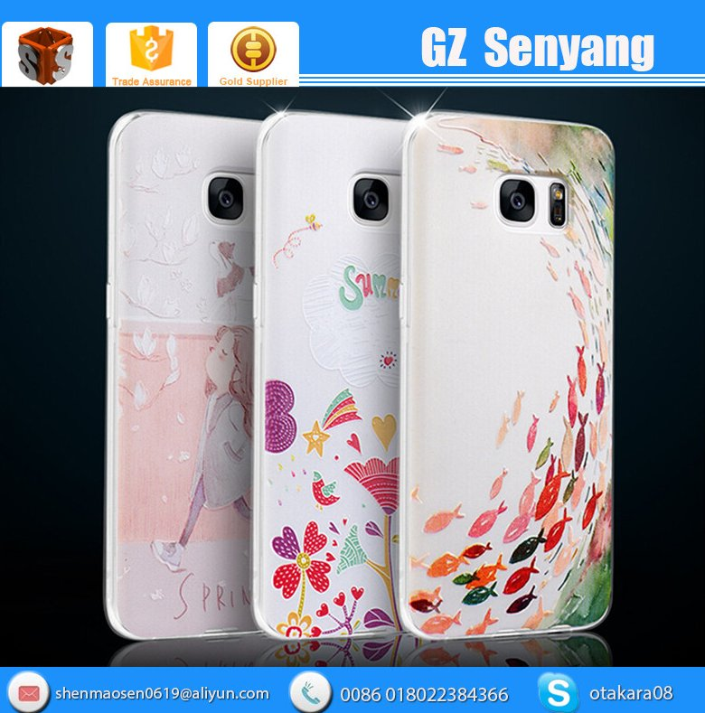 New Product Cartoon 3d Phone Case Printer For Samsung Galaxy s7 s7 Edge