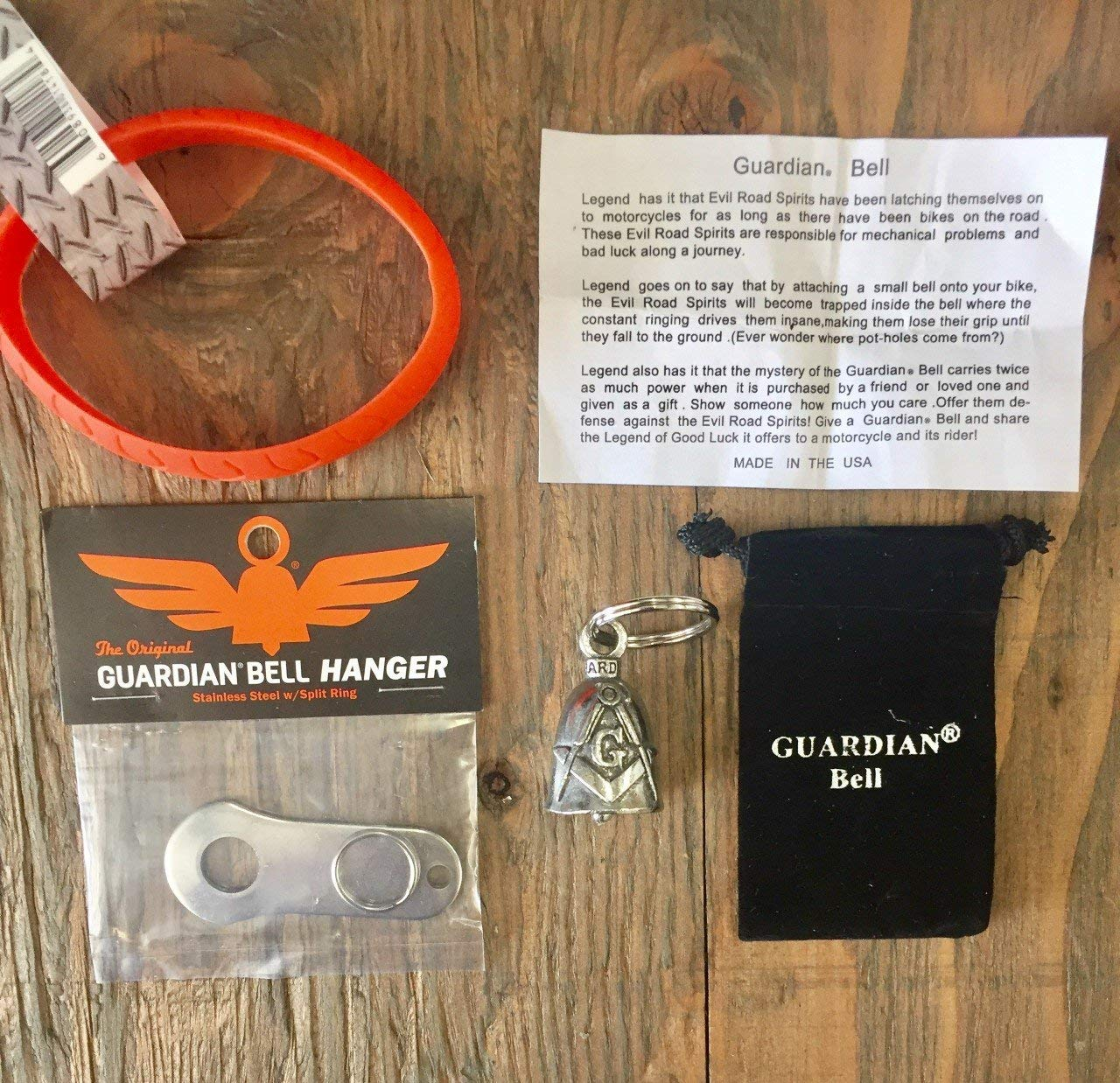 Guardian® Bell MASONIC COMPLETE KIT W/HANGER & WRISTBAND