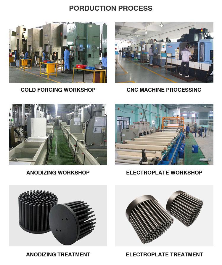 Dissipateur thermique en Aluminium Led noir | Forge à froid, Cxb3590 Fin à broches, dissipateur thermique Led pour lumière 30W
